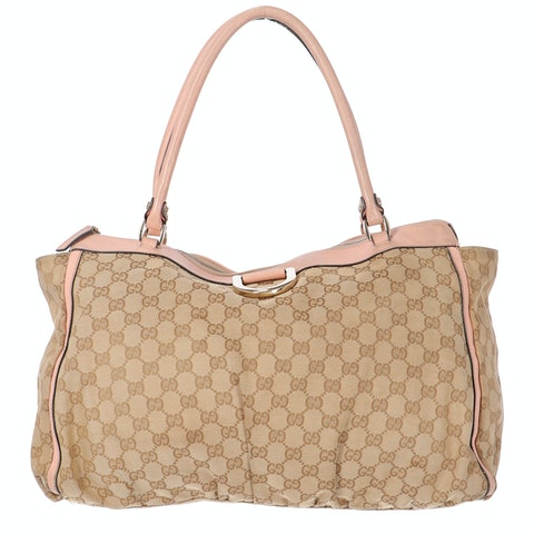 Gucci Brown Canvas Shopper