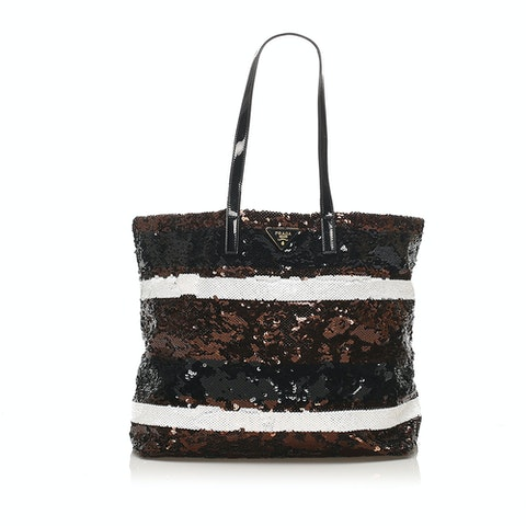 Sequined Tote Bag