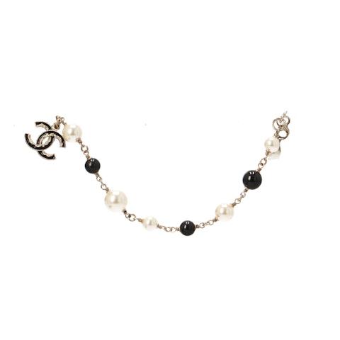 Gold-Toned Pearl Beaded Bracelet