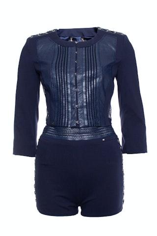 Elisabetta Franchi, Blue stretch suit with shorts