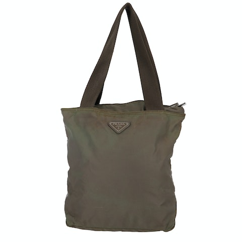 Green Nylon Shoulder Bag