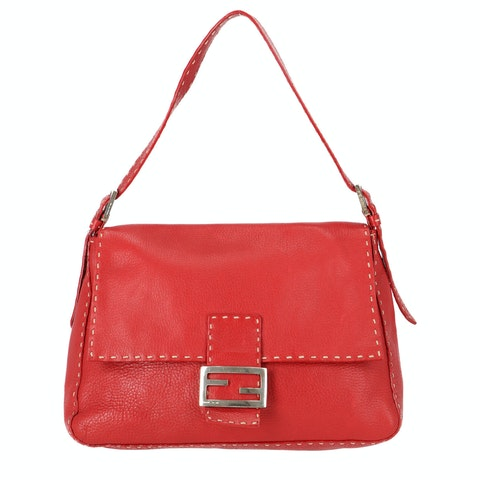 Red Leather Baguette Mamma
