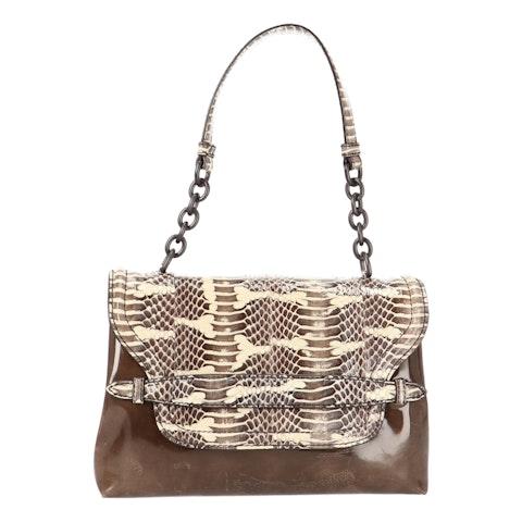 Brown Patent Leather Shoulder Bag