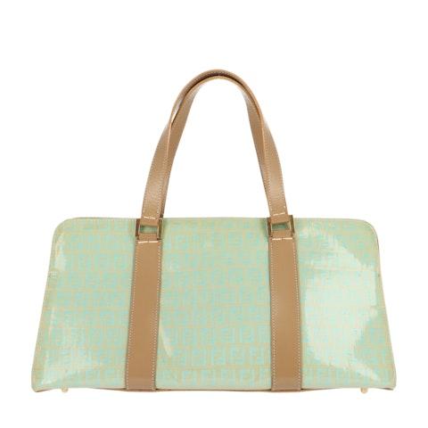 Green Zucca Vinyl Shoulder Bag