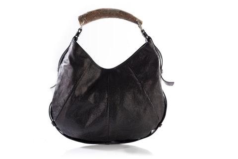 Burnt Brown Mombasa Deer Horn Handle Bag
