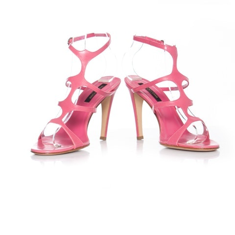 Sergio Rossi, pink leather cut-out sandals