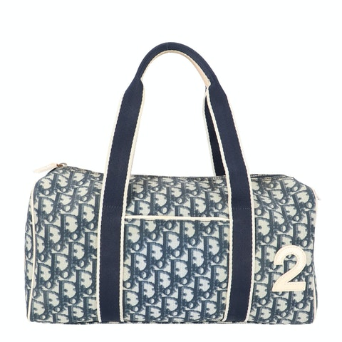 Blue Coated Canvas Bowling Bag