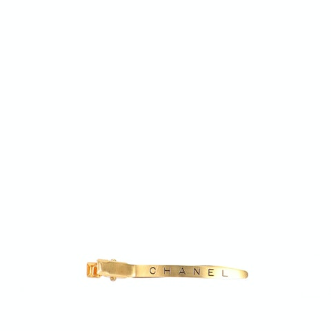 Gold-Toned Metal Logo Barette
