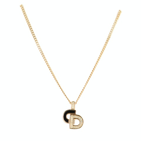Gold 'CD' Logo Necklace