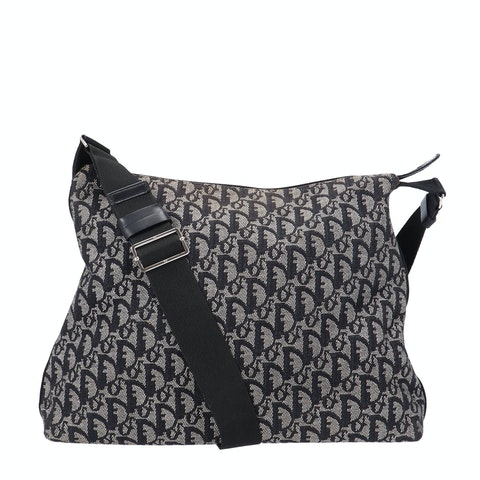 Black Jacquard Canvas Trotter Crossbody