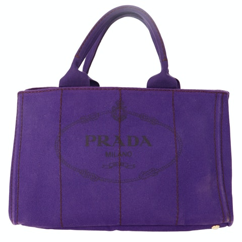 Purple Printed Canvas Tote