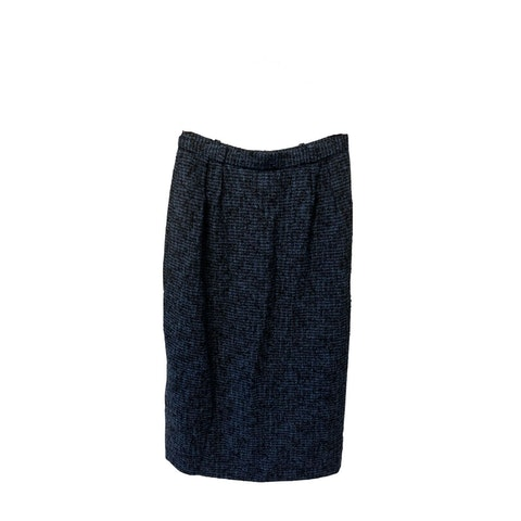 Blue Tweed Skirt