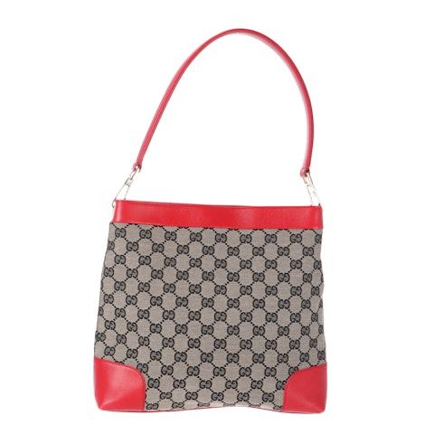 Gucci Blue Diamante Canvas Shoulder Bag