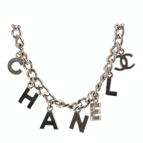 Silver-Toned Letter Bracelet