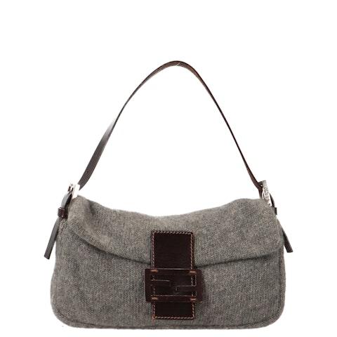 Grey Knit Baguette
