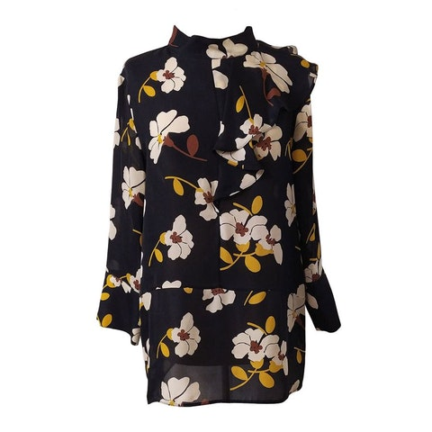 Black Floral Marni Dress