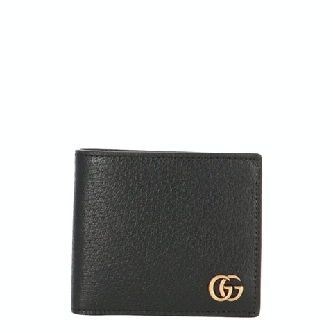 Black Leather GG Marmont Bifold