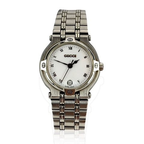 Stainless Steel Wrist Watch White Dial