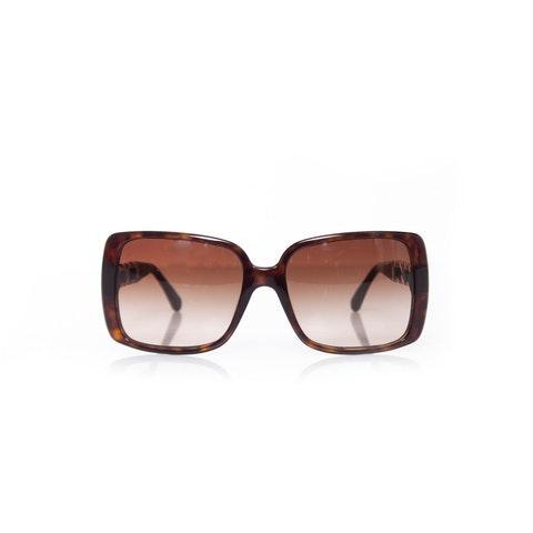 Chanel, chain link square sunglasses.