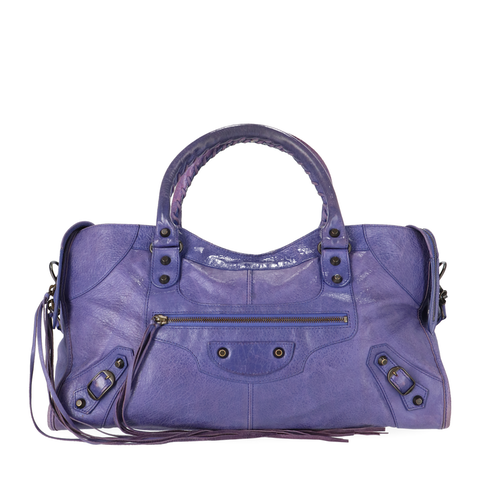 Balenciaga Purple Lambskin Part Time