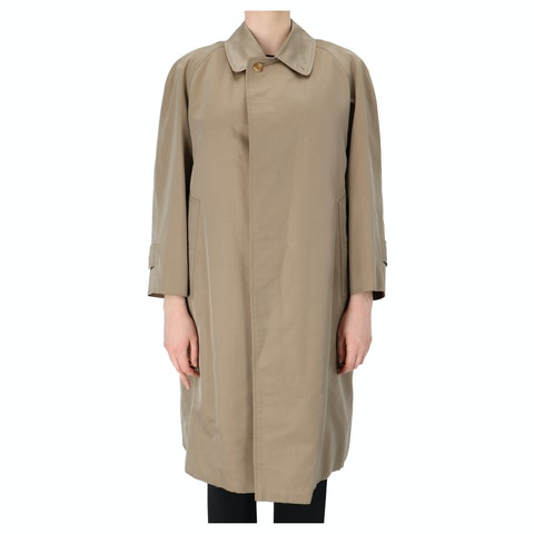 Tan Cotton Trench Coat