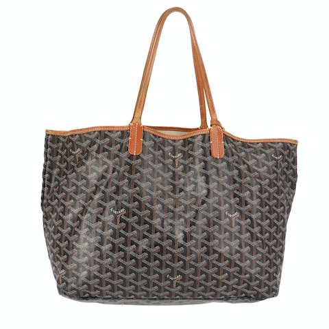 Black Goyardine Canvas Saint Louis Tote PM