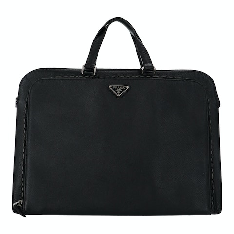 Black Saffiano Leather Computer Bag