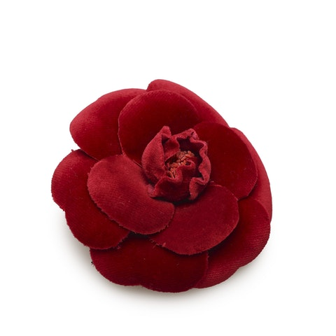 Camellia Velour Brooch