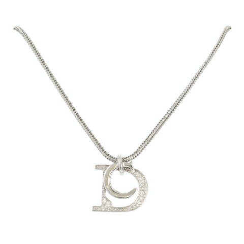 Silver-Toned 'C' and 'D' Letter Necklace