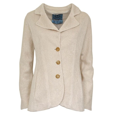 Cream Silk Cardigan