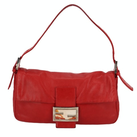 Red Leather Baguette