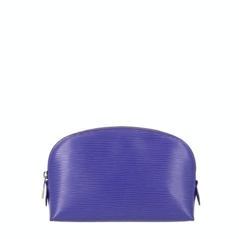Purple Epi Cosmetic Pouch