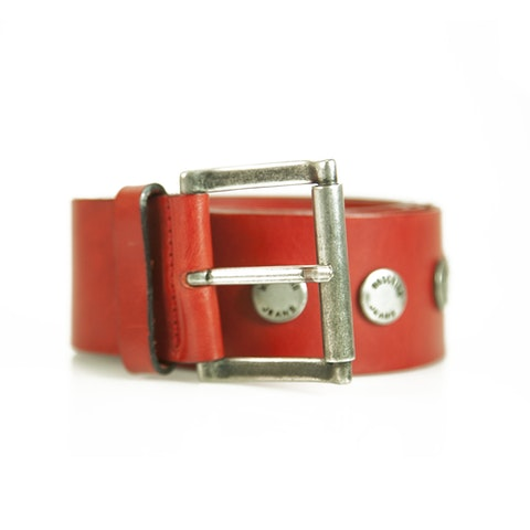 Moschino Jeans Red Leather Belt
