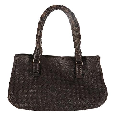 Brown Intrecciato Handbag