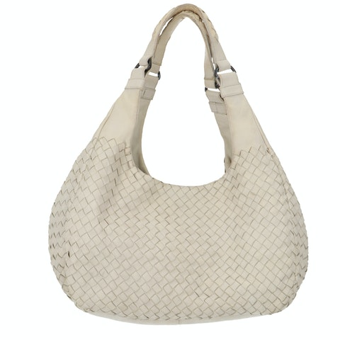 White Intrecciato Shoulder Bag