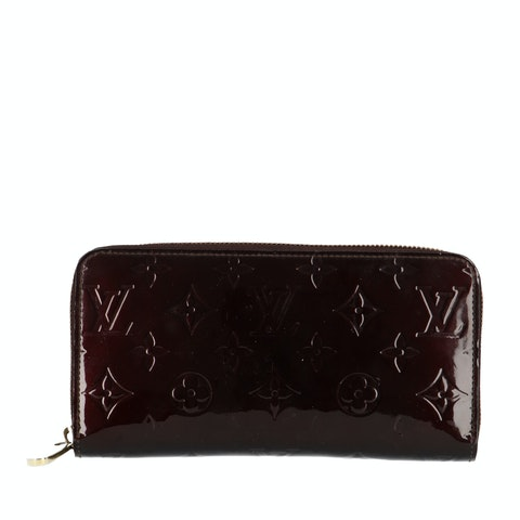 Purple Monogram Vernis Zippy Wallet