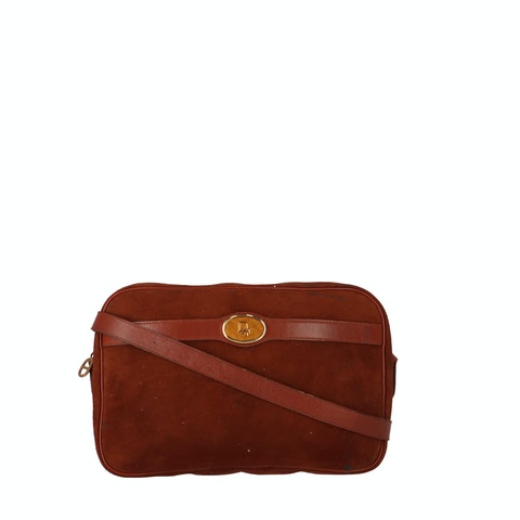 Red Suede Crossbody