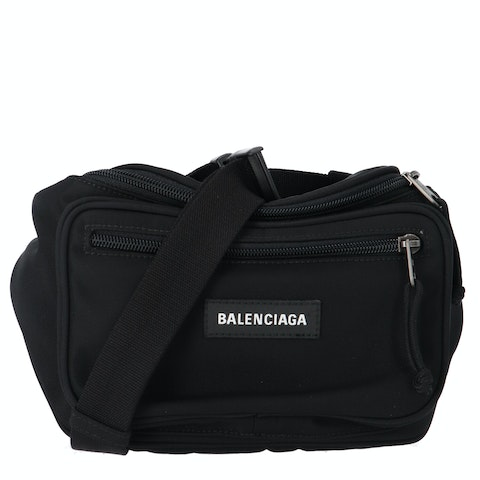 Balenciaga Black Nylon Explorer Belt Bag