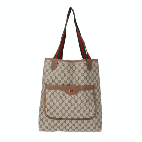 Gucci Brown Diamante Coated Canvas Accessory Collection Tote