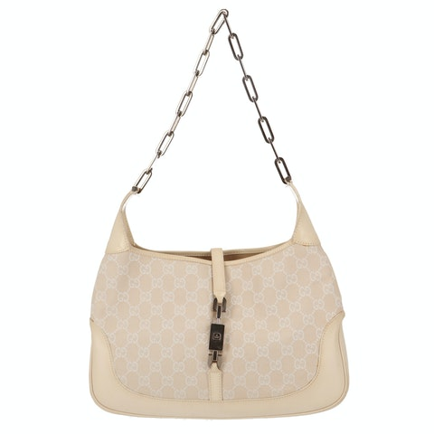 Beige Diamante Canvas Jackie