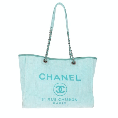 Chanel Blue Canvas Deauville