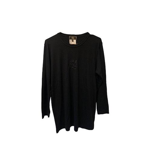 Black Logo Long Sleeve cotton