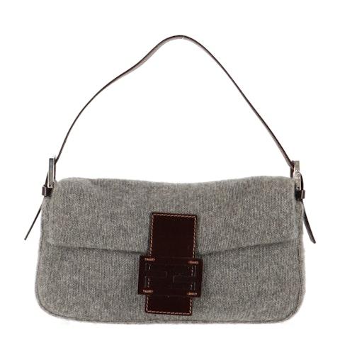 Grey Wool Baguette