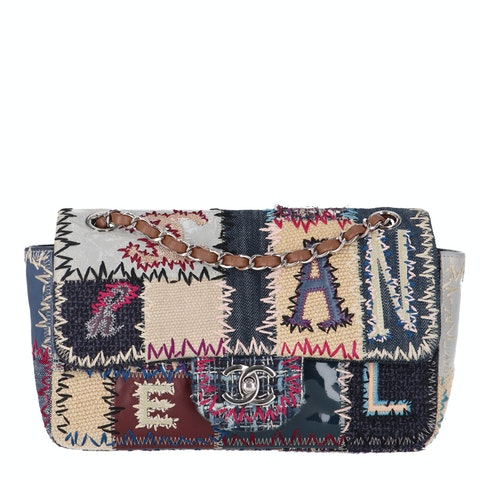 Chanel Blue Multimaterial Patchwork Specialty Flap Bag