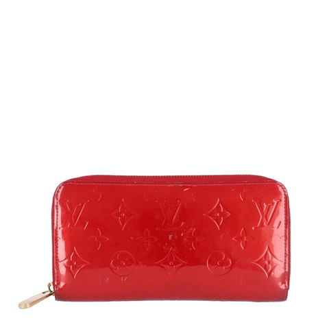 Red Monogram Vernis Zippy Wallet