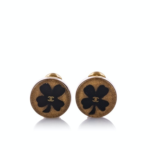 CC Clover Clip-on Earrings