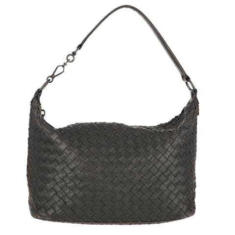 Black Small Intrecciato Shoulder Bag