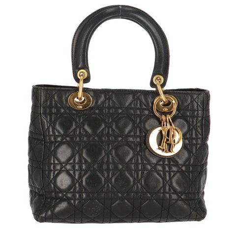 Black Leather Lady Dior