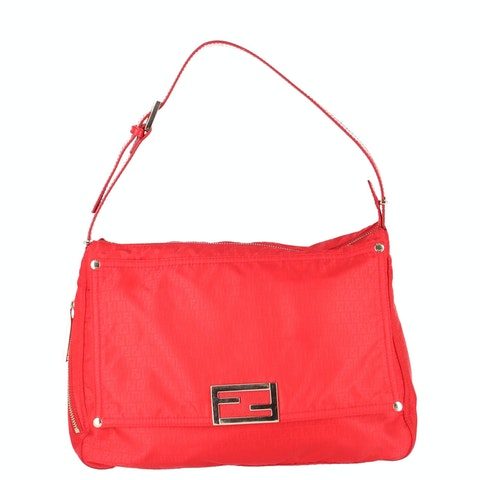 Red Zucca Nylon Shoulder Bag
