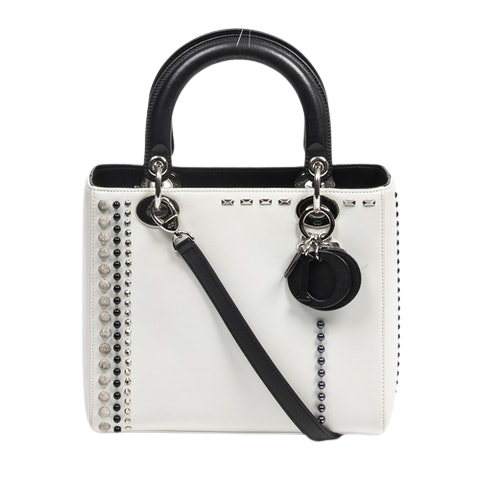 Lady Dior  in White Calf Leather